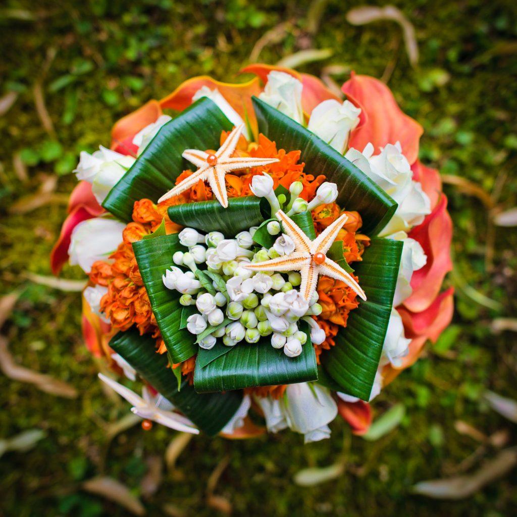 bouquet mariée étoiles de mer