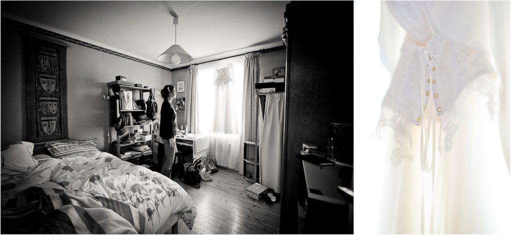 robe mariée chambre