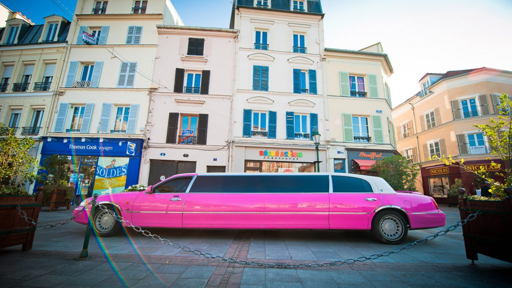 limousine rose mariage