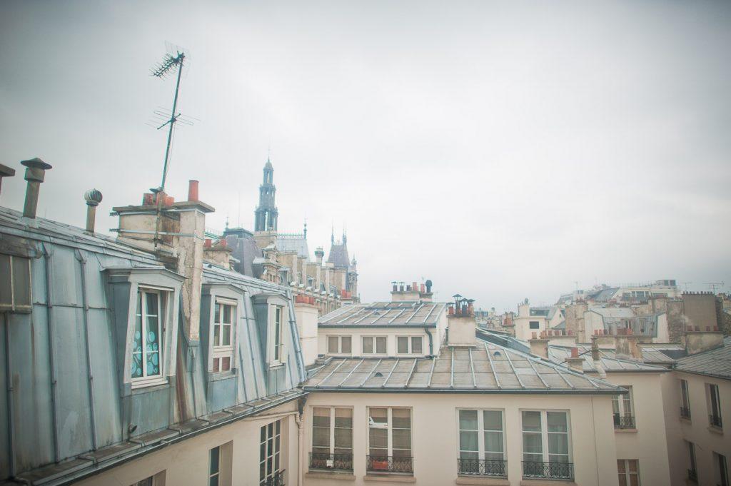 Vue toit Paris