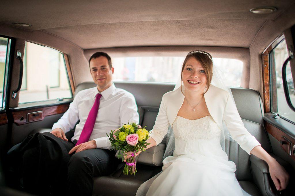 Mariés en Rolls-Royce