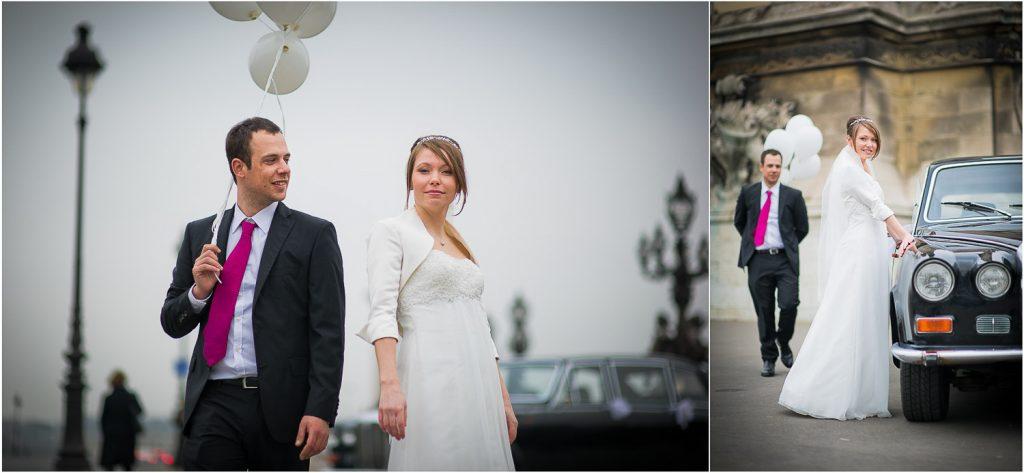 mariage pont des Invalides