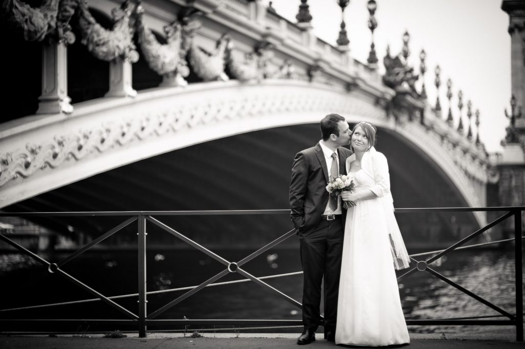 photo couple Pont des Invalides