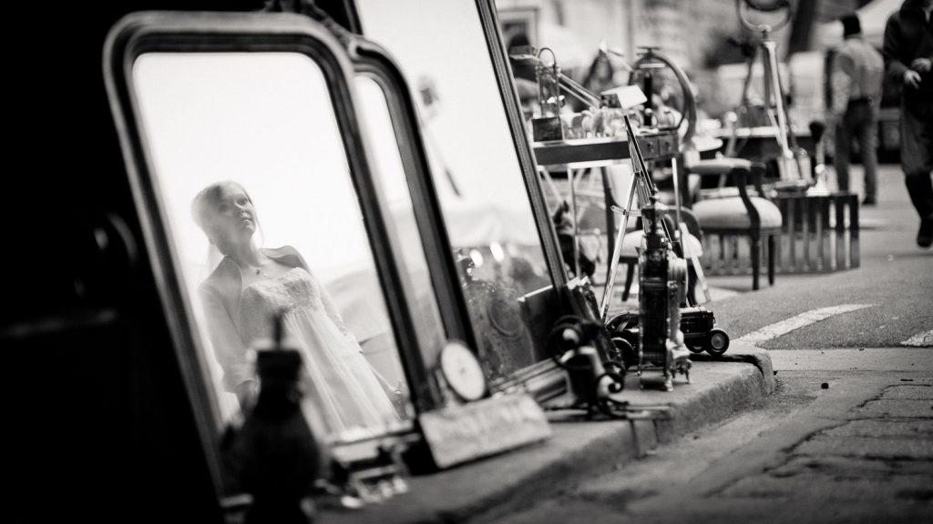 photo mariée miroir