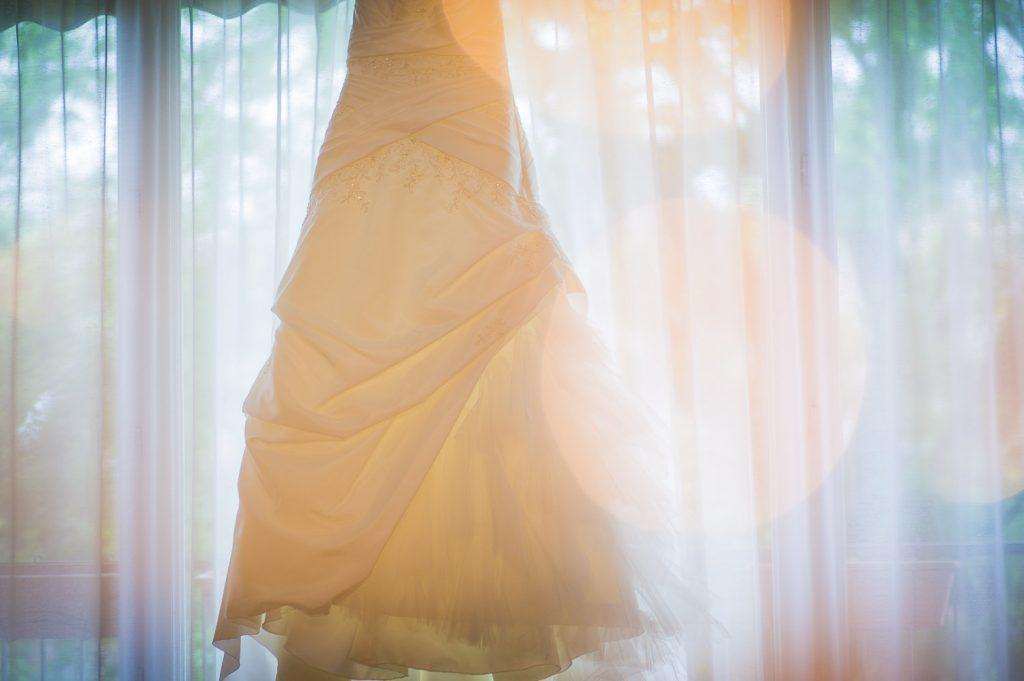 bokeh robe mariée