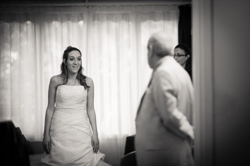 mariée et son papa