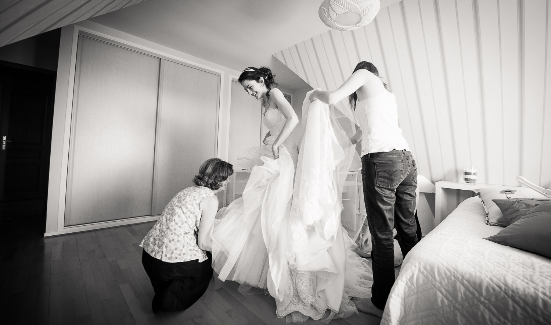 robe mariée traine