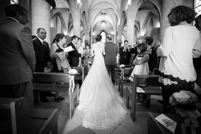 mariée dos église