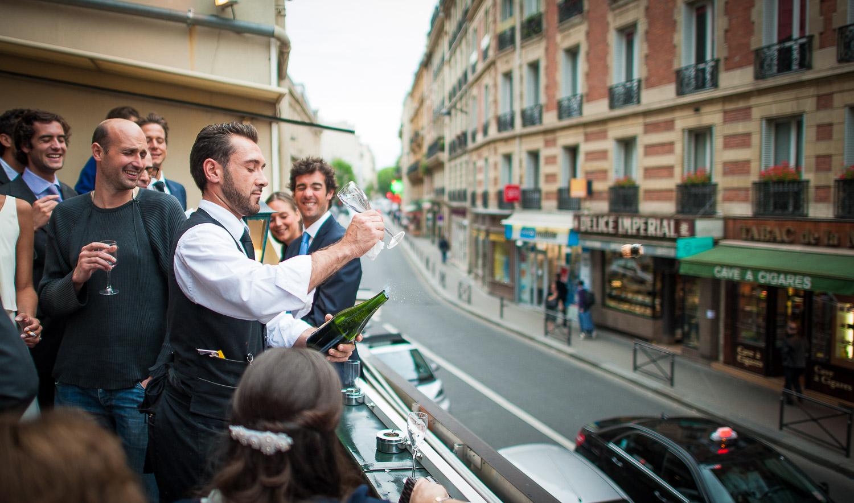 ouverture champagne avec flute