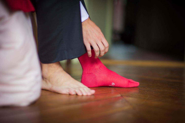 chaussettes fushia mariage