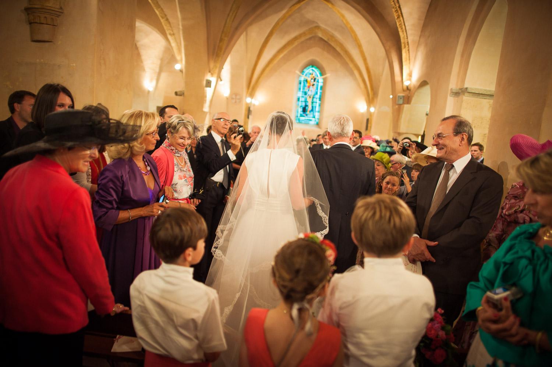 entrée mariée église