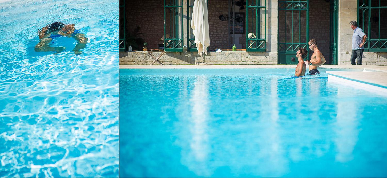marié piscine
