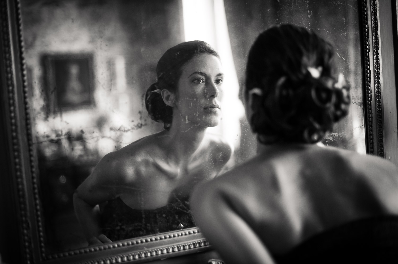 mariée vieux miroir
