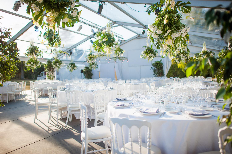 décoration mariage tente cristal