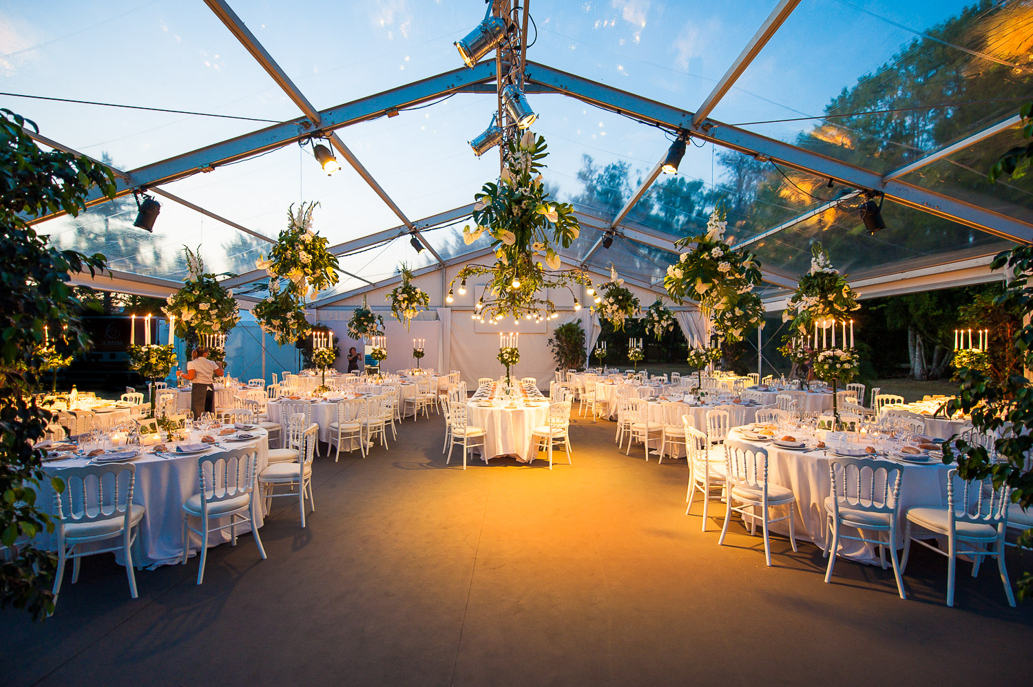 tente cristal mariage ambiance