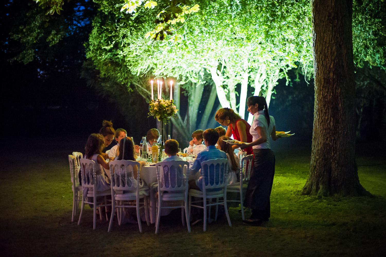 diner enfants extérieur mariage
