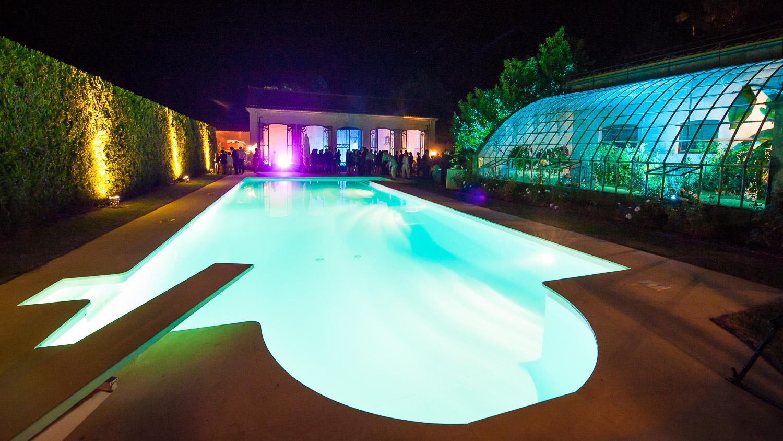 piscine durant mariage