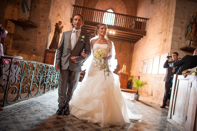 mariage église hanches