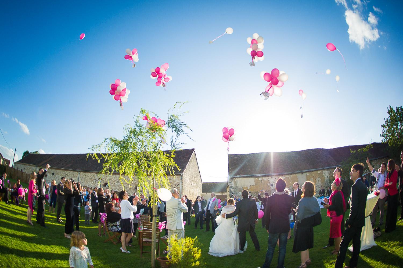 mariage lacher de ballon