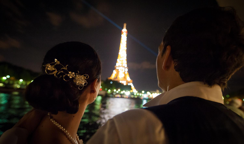 tour eiffel nuit mariage