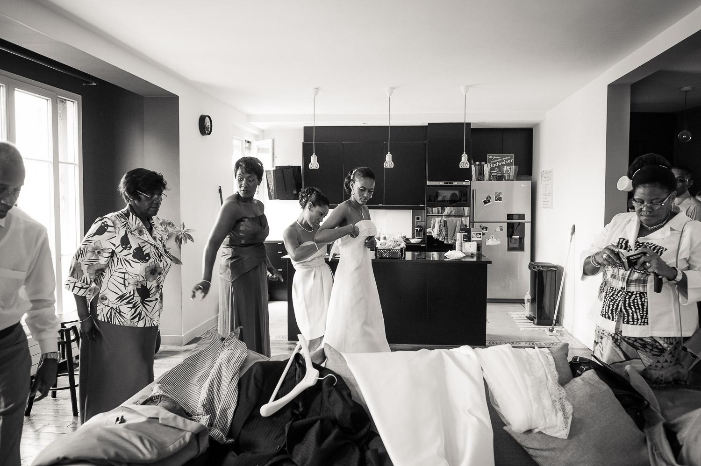 mariée et sa famille