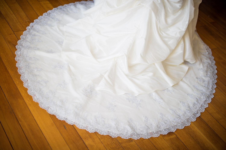 Traine robe ronde mariage