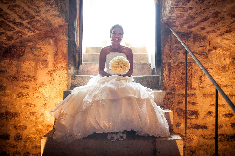 mariée entrée chais
