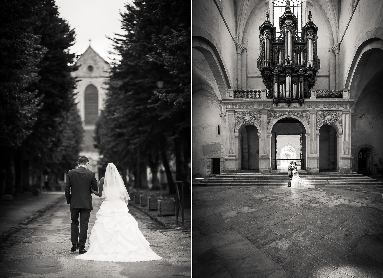 photo mariage abbaye Pontigny