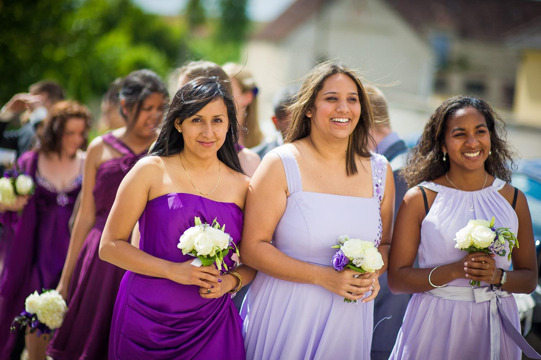 demoiselles d'honneur thème violet