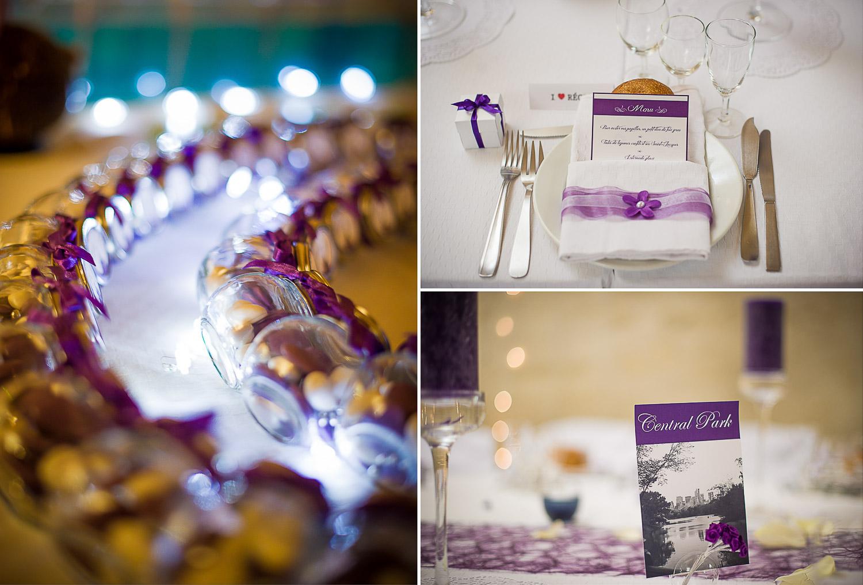Décoration mariage mauve violet