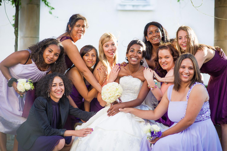 Mariée demoiselles honneur