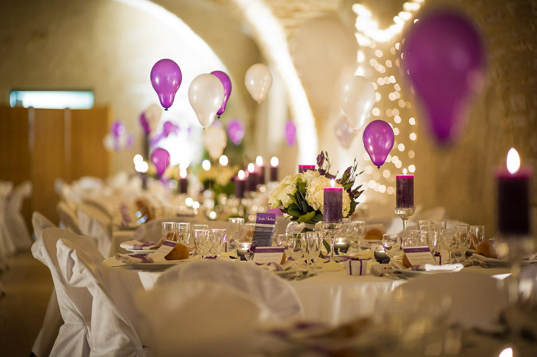 décoration cave voutée mariage