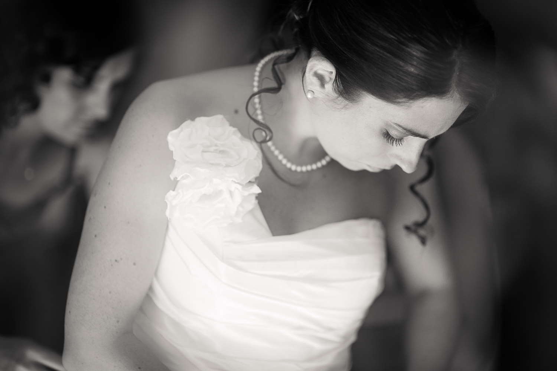 mariée n&b