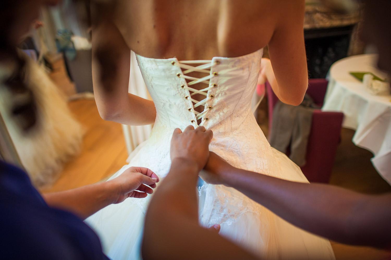 lassage robe mariée