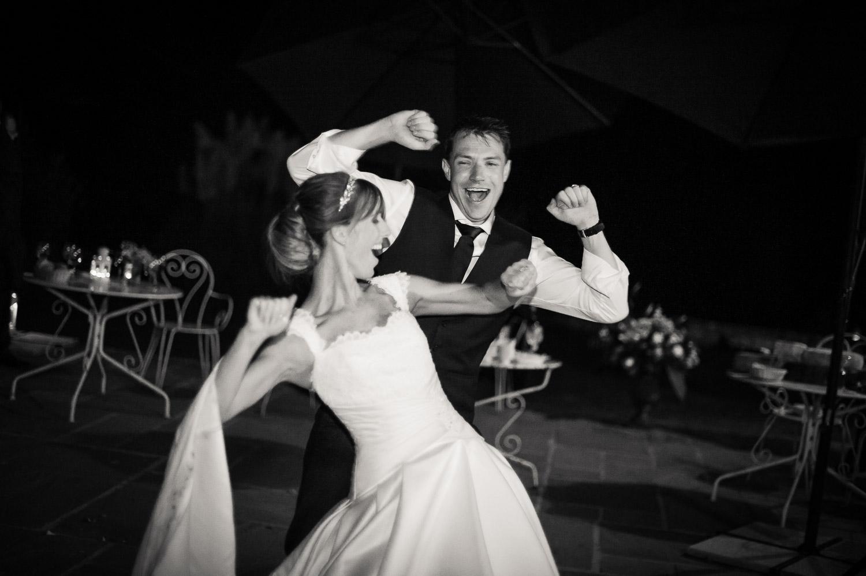 mariés piste danse
