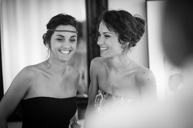 mariée et sa soeur