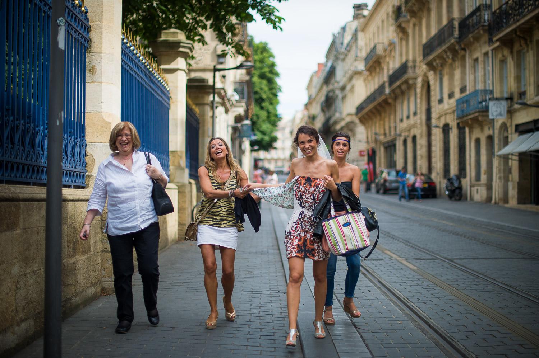 Mariée dans Bordeaux