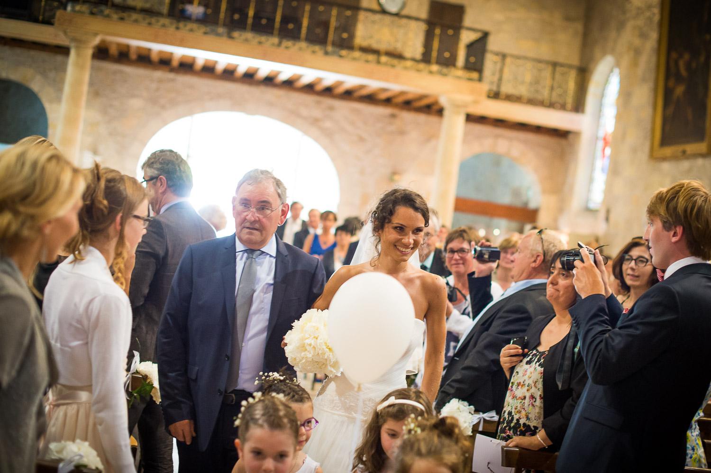 entrée mariée église Pessac