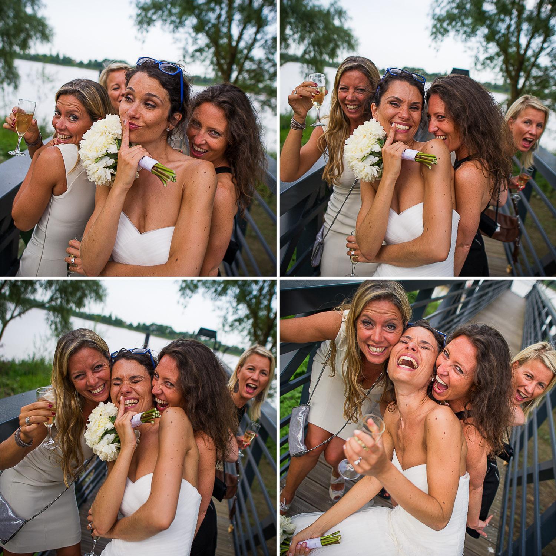 mariée et demoiselles honneur
