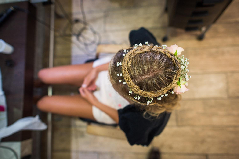 Coiffure mariée champêtre