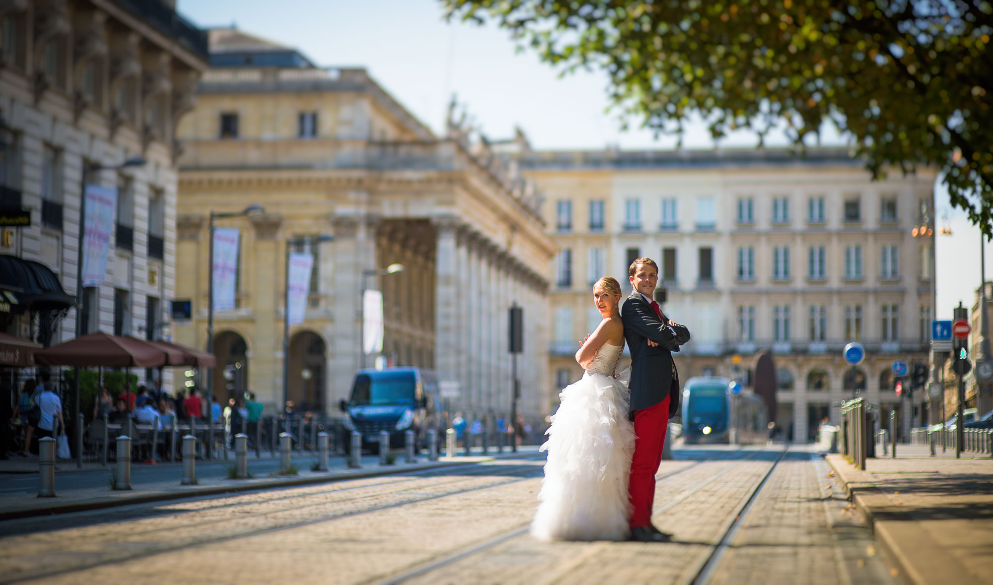 Photo couple Bordeaux centre