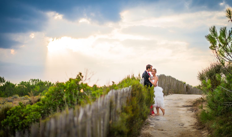 Photos mariage coucher de soleil