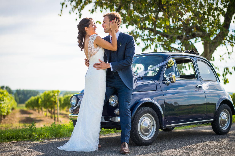Fiat 500 mariage