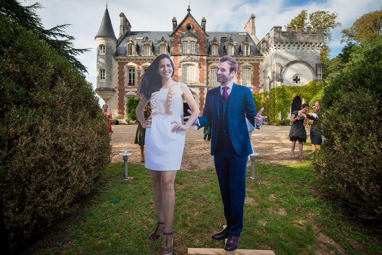 Photobooth mariés taille réelle