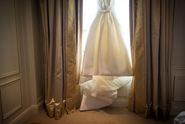 Robe mariée drapée