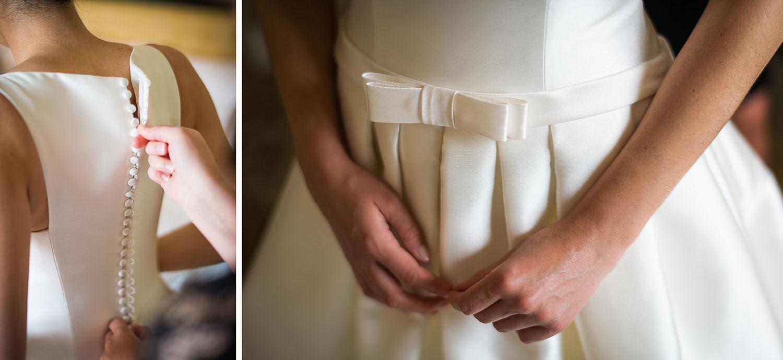 Robe mariée noeud avant