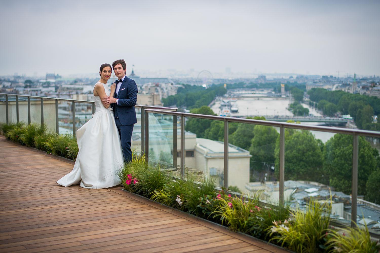 Vue sur Paris mariage