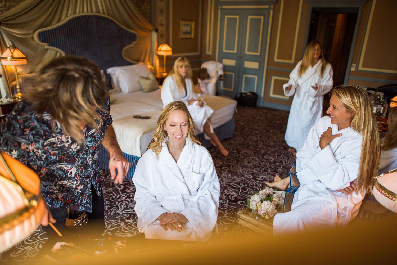 Préparatifs grand hôtel Bordeaux