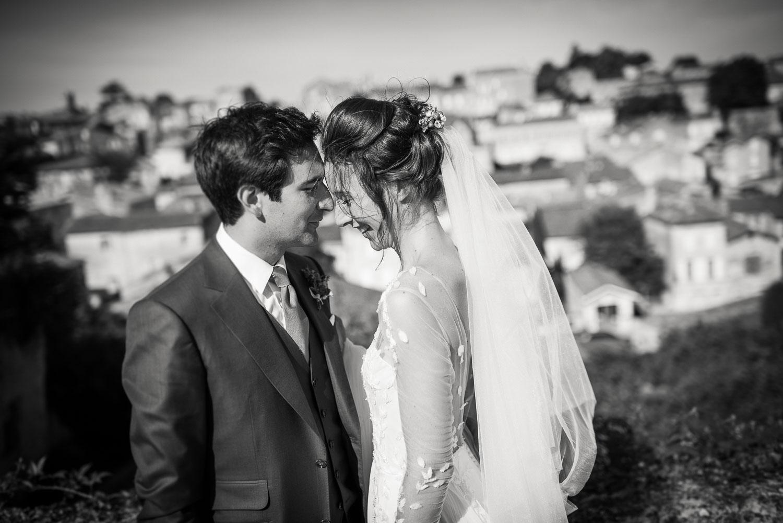 Mariage vue sur Saint-Emilion